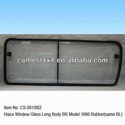 Window Glass Long Body BR Model For Hiace 1996 Rubber(same BL)