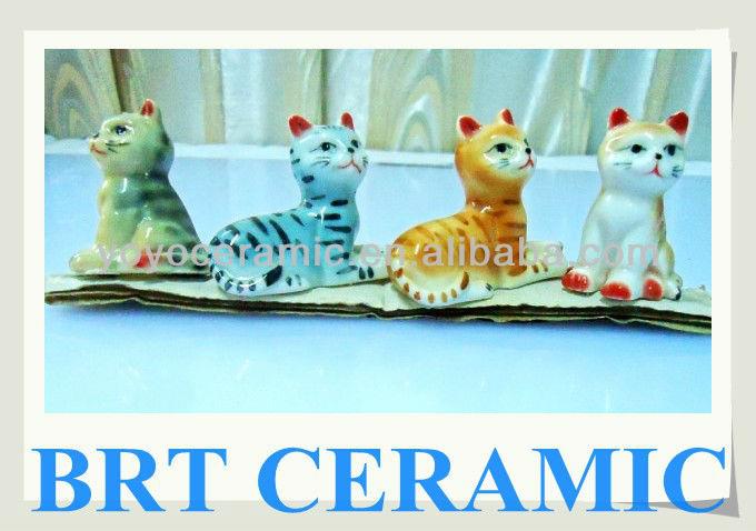 pintado de gatos de cerámica
