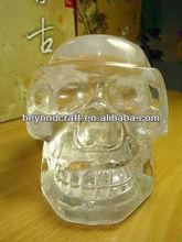 clear natural crystal quartz skull ,Skeletons model crystal