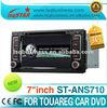 Whole sale cheap vw Volkswagen Touareg central multimedia gps navigation,radio, audio, vedio, GPS multimedia player ST-ANS710