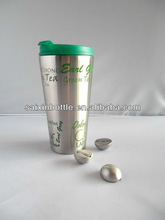 2012 newly designed coffee mug with stainless steel ice cube