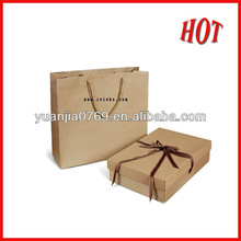 Kraft gift paper bag and box in 2012 for promotional