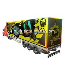 Car Based Movable 3D/4D/5D/6D/7D Cinema System