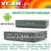Newest TV box DVB-T media player 4.0 google lcd tv tuner card