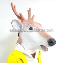 Creepy Deer Mask Head Halloween Costume Theater Prop Novelty Latex Rubber