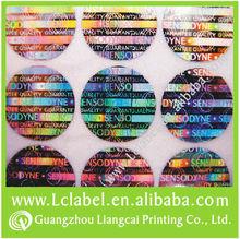 Hot sale laser tag and security hologram transfer film
