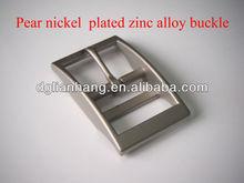 Pear nickel plated zinc alloy dog collar buckle