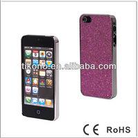 Fashionable Flash powder metal hard case for apple iphone 5