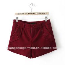 2012 new ladies'fashion tweed pocket shorts