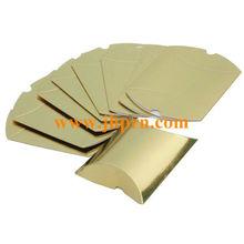 metallic paper pillow pack paper box