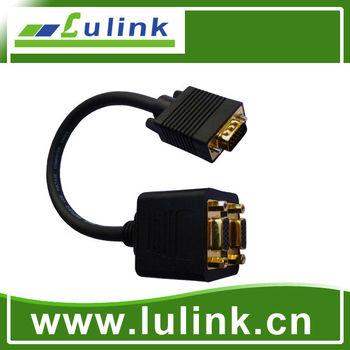 DVI24+5 M to VGA HD15F+3 RCA F Cable