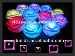 Hot sale!lighting decoration rose flower, for wedding holidays,free logo printing