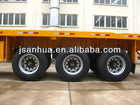 Tri-axle 40ft Flatbed Container Chassis In Truck Semi Trailer Or Semi-trailer Trucks With Air Suspension