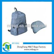 fashion lady small nylon fold up bag folding backpack