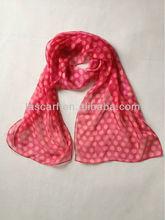 fashion colorful polyester 30D chiffon digital paint scarf dot design