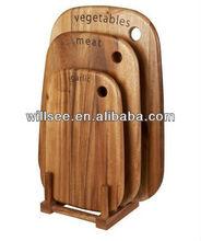 BK-046-6,Bamboo Cutting board with bamboo rack