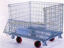 warehouse chrome wire steel storage cage