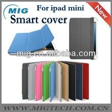 Real Smart cover for ipad mini, leather case for mini ipad
