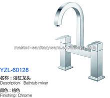 2014 hot sale ! ! 2 holes single handle Modern spray swivel brass kitchen mixer tap faucet