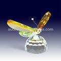 Luxuriöses Kristallglas-Schmetterlingsgeschenk des Entwurfs