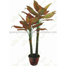 Hot sale 2 Trunk and 17 Leaves Autumn Wild Ginseng artificial plant bonsai
