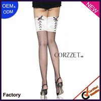 black mesh top lace girls sexy silk stocking