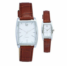 fashion couple lovers leather strap watch