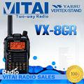 De larga distancia ham radio yaesu vx-8gr 5w de potencia de doble banda de frecuencia con pantalla lcd de la función de gps