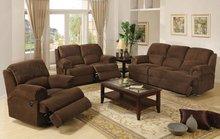 YR1112 microfiber recliner sofa set, modern recliner sofa suite 3 2 1 seat