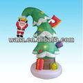 neuer heißer verkaufender großer aufblasbarer Weihnachtsbaum mit decoration& Sankt