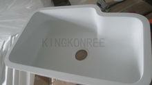irregular shaped polished acrylic solid surface kitchen sinks