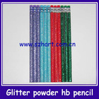HB Glitter Pencil with colored eraser