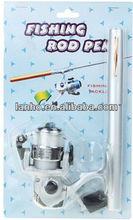 Mini Pocket Pen Fish Fishing Rod + Mini Reel + Line Aluminium Set New