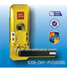 gold biometric fingerprint code waterproof security door lock