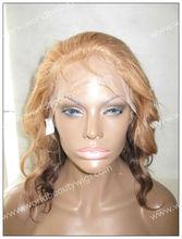 blonde and grey hair full lace wig, virgin european human hair