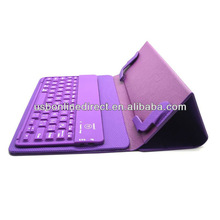 Ultra-thin Wireless Bluetooth 3.0 Keyboard with folding PU Leather cover Case For Mini ipad Black/purple/blue/green