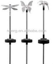 24-PC Mixed Hummingbird Butterfly Dragonfly Solar (PDQ) Garden Stick Light