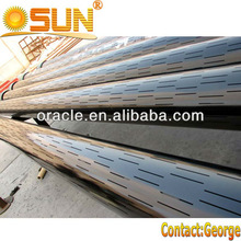 Slotted square tube steel