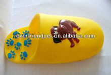 tops pet products-Everfriend 15cm yellow vinyl dog slipper chewing toy