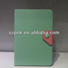For iPad Mini Dual color leather silicon case