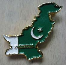 PAKISTAN MAP AND FLAG METAL FRIDGE MAGNET SOUVENIR