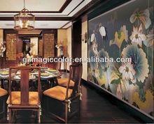 Chinese famous lotus mural paintings