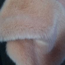 solid planted artificial faux rabbit fur