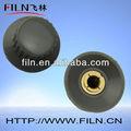 heigth16mm ronda de baquelita de plástico del engranaje pomos de cambio para los camiones