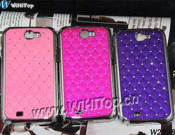 Galaxy Note 2 Luxury Chrome Case.Bling Rhinestone Diamond Case for Samsung Galaxy Note 2 II N7100