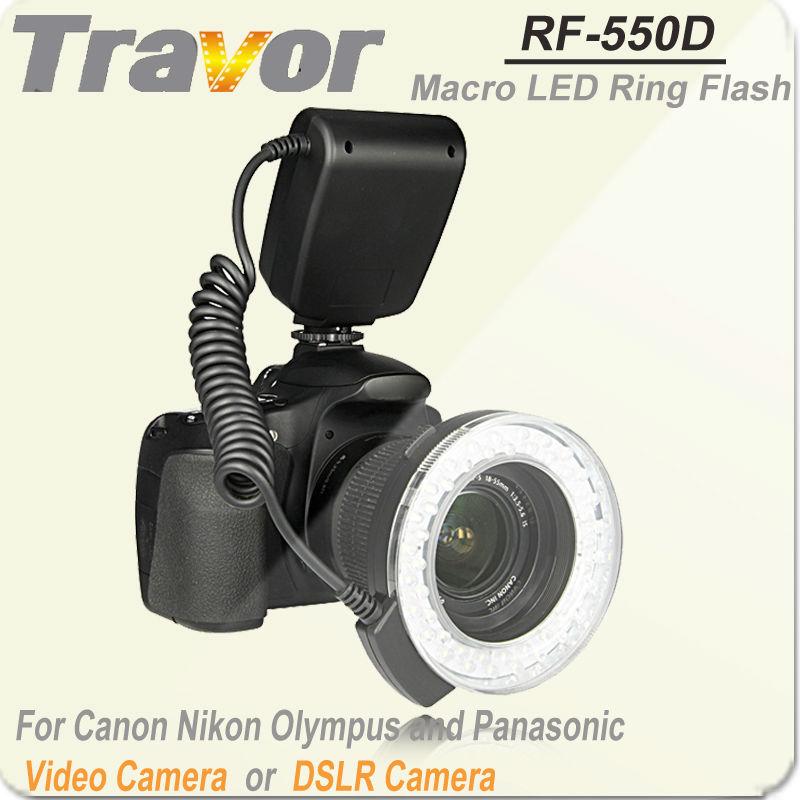 High Performance Self-designed RF-550E LED Ring Camera Flash Light for Sony DSLR