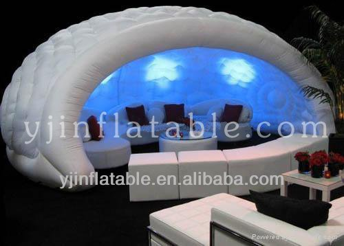 hot sale outdoor giant inflatable LED light party tent