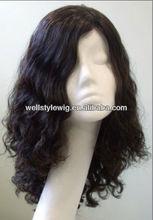 Silk Top Manufactor jewish wig European virgin human hair full lace wig