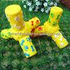 pet accessory-12.9cm yellow tripod pet supply,squeak toy,chew toy