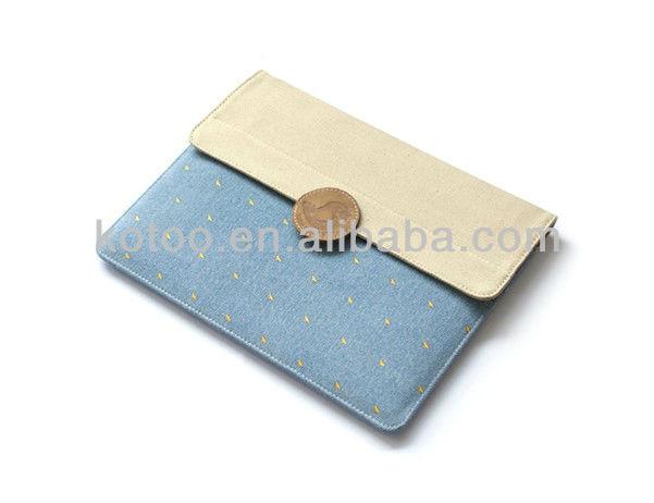 Cotton fabric case for ipad mini